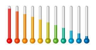 Het toenemen thermometer Stock Afbeeldingen