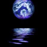 Het toenemen van de volle maan Stock Fotografie
