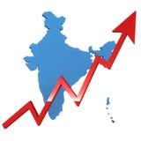 Het toenemen van India Royalty-vrije Stock Afbeeldingen