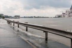 Het toenemen Water, Boedapest Stock Foto