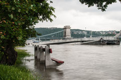 Het toenemen Water, Boedapest Stock Fotografie