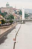 Het toenemen Water, Boedapest Stock Afbeelding