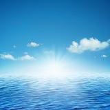 Het toenemen zon. Stock Fotografie