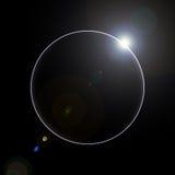 Het toenemen Zon over de planeet vector illustratie
