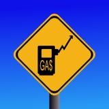 Het toenemende teken van benzineprijzen vector illustratie