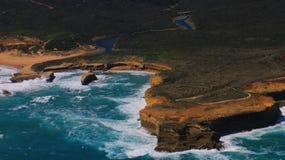 Het Toerisme van Australië, Grote oceaan Twaalf apostelen gebiedsmening Royalty-vrije Stock Afbeeldingen