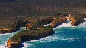 Het Toerisme van Australië, Grote oceaan Twaalf apostelen gebiedsmening Royalty-vrije Stock Fotografie