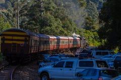 Het Toerisme van de Bussenkloof Inchanga van de stoomtrein Stock Foto's