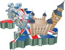 Het toerisme van het Verenigd Koninkrijk Stock Foto's