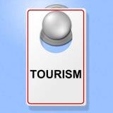 Het toerismeteken toont op Verlof en Bestemmingen ga royalty-vrije illustratie