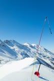 Het toestel van de lawineveiligheid in sneeuw Royalty-vrije Stock Afbeelding