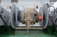 Het toestel van de visserij van een onderzoektreiler Royalty-vrije Stock Foto's