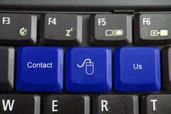 Het toetsenbord, contacteert ons Stock Foto's