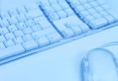 Het toetsenbord en de muis van de computer Stock Afbeelding