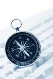Het Toetsenbord en het Kompas van de computer Royalty-vrije Stock Afbeelding