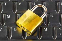 Het toetsenbord en het slot van de computer royalty-vrije stock foto