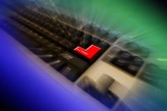 Het toetsenbord gaat sleutel in Stock Afbeeldingen
