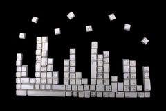 Het toetsenbord knoopt patroon dicht Royalty-vrije Stock Afbeeldingen