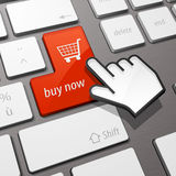 Het toetsenbord koopt nu Royalty-vrije Stock Afbeelding