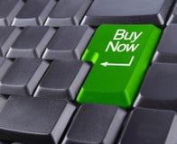Het toetsenbord koopt nu Royalty-vrije Stock Foto's