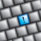 Het toetsenbord met sleutel leert Royalty-vrije Stock Foto