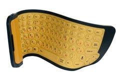 Het toetsenbord rubber flexibele geel stock afbeelding