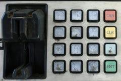 Het toetsenbord van ATM Stock Foto's