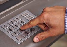 Het toetsenbord van ATM Stock Afbeeldingen