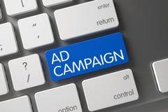 Het Toetsenbord van de advertentiecampagne 3d Stock Afbeelding