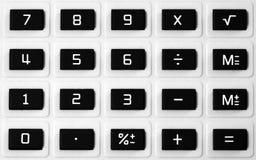 Het toetsenbord van de calculator Royalty-vrije Stock Foto's