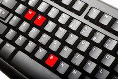 Het toetsenbord van de computer Royalty-vrije Stock Afbeeldingen