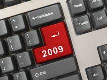 Het toetsenbord van de computer met de sleutel van 2009 Royalty-vrije Stock Afbeeldingen
