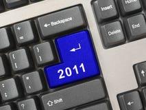 Het toetsenbord van de computer met de sleutel van 2011 Stock Afbeeldingen