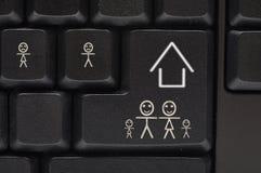 Het toetsenbord van de computer met glimlachsleutel Stock Afbeelding