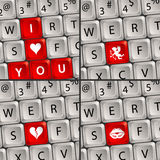 Het Toetsenbord van de computer met het Pictogram van de Liefde Royalty-vrije Stock Foto's
