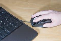 Het toetsenbord van de computermuis Stock Foto