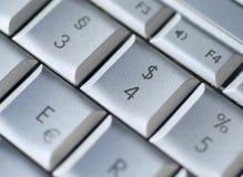 Het toetsenbord van de dollar Royalty-vrije Stock Foto