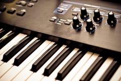 Het toetsenbord van de piano Stock Afbeelding