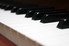 Het toetsenbord van de piano stock fotografie