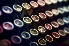 Het toetsenbord van de schrijfmachine royalty-vrije stock afbeeldingen
