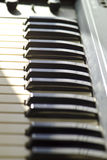 Het toetsenbord van de synthesizer Stock Foto