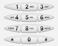 Het toetsenbord van de telefoon Royalty-vrije Stock Afbeelding