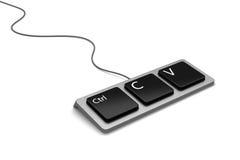 Het toetsenbord van het exemplaardeeg (plagiarishulpmiddel) Stock Foto