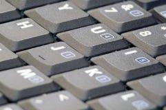 Het toetsenbord van het notitieboekje stock foto