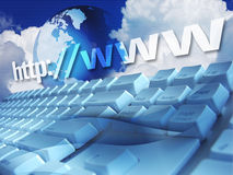 Het toetsenbord van Internet Stock Foto's