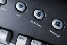 Het toetsenbord van media Stock Afbeelding