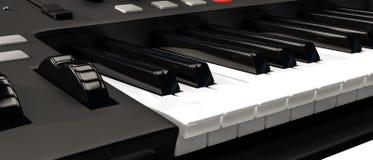 Het toetsenbord van Midi royalty-vrije illustratie