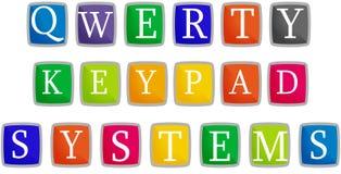 Het toetsenbord van Qwerty Stock Illustratie