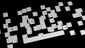 Het toetsenbord, vliegende knopen, bevat alpha- steen royalty-vrije illustratie