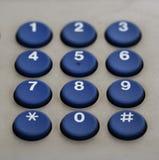 Het toetsenbordaantallen van de telefoon Stock Afbeelding